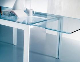 Tavoli in cristallo allungabili Intermedi