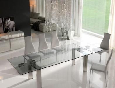 Tavoli in cristallo allungabili top