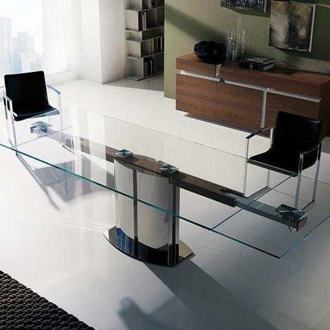 Tavoli in cristallo allungabili top il modulo - Tavoli in cristallo allungabili cattelan ...