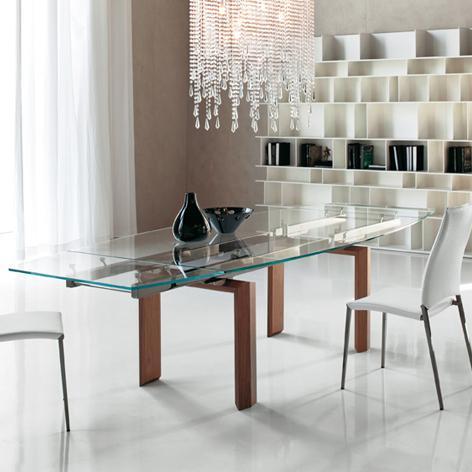 Tavoli in cristallo allungabili top il modulo for Tavoli in cristallo allungabili